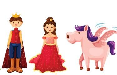prinssi, prinsessa ja satuhevonen
